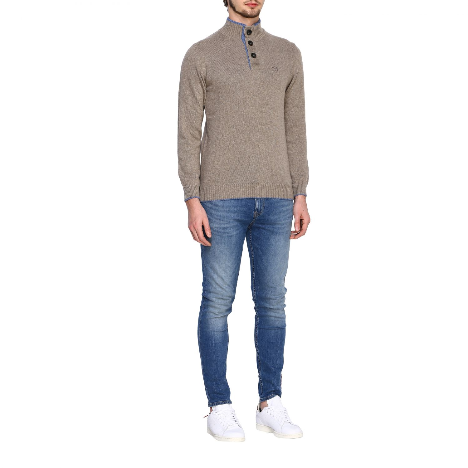 Pull homme North Sails beige 2