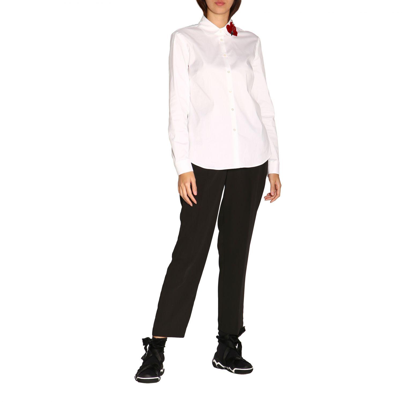 Camisa mujer Red Valentino blanco 2