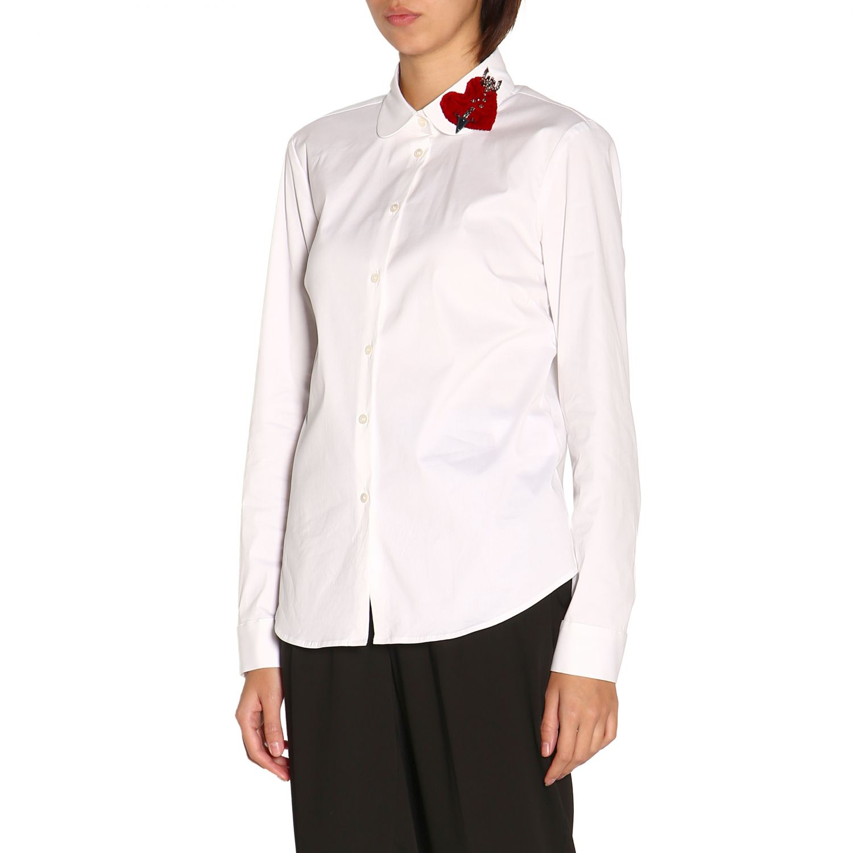 Camisa mujer Red Valentino blanco 4