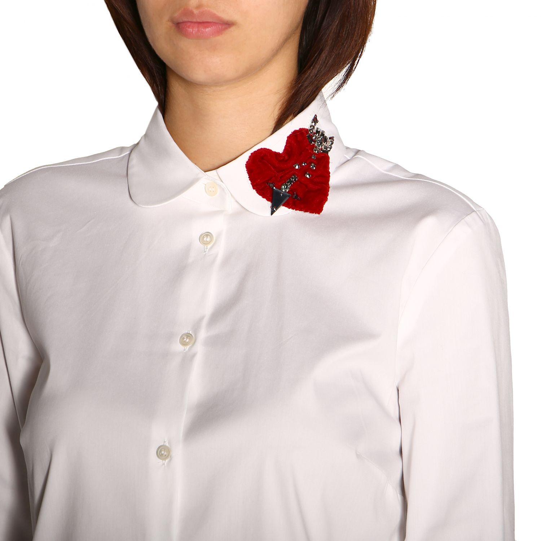 Camisa mujer Red Valentino blanco 5