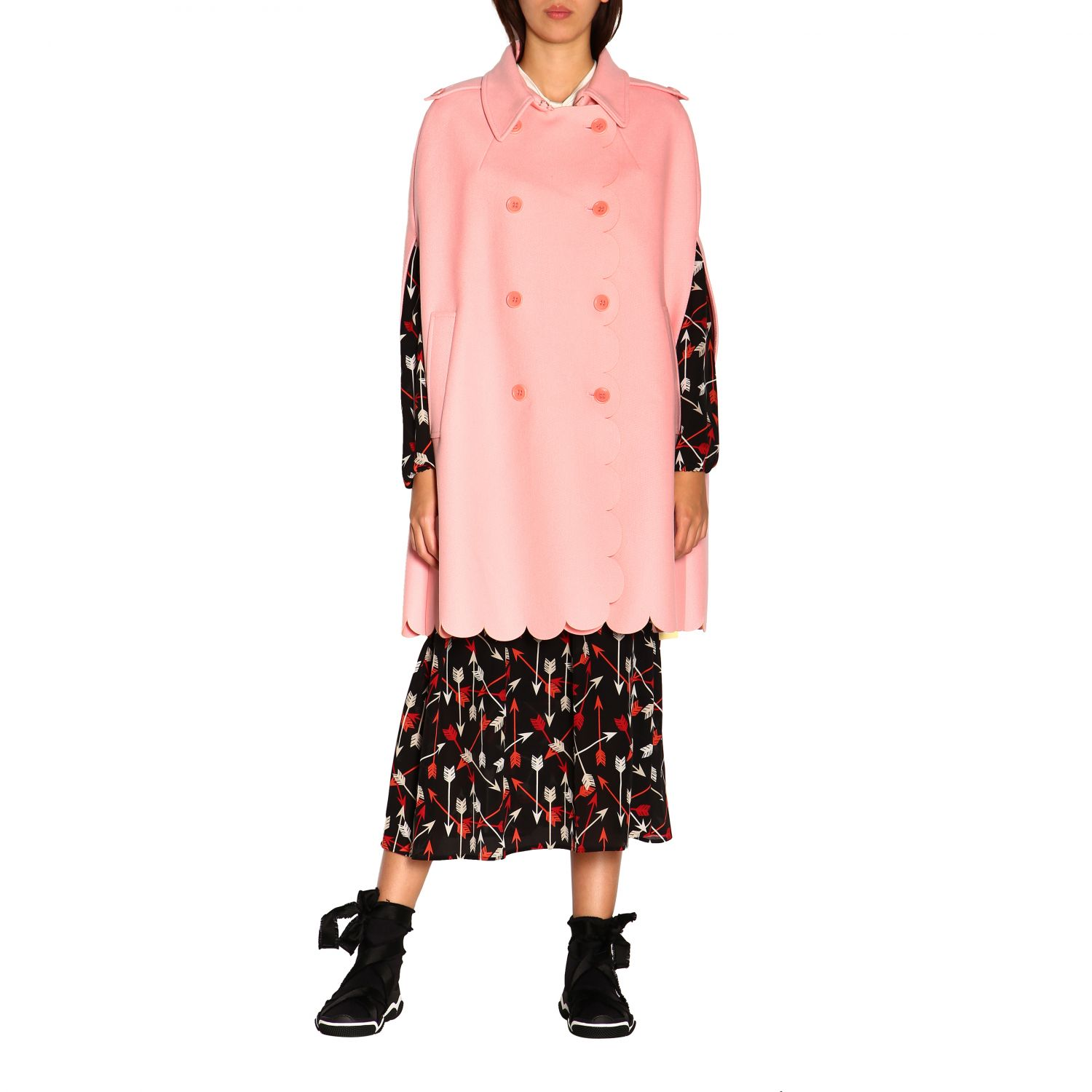Cape women Red Valentino pink 1
