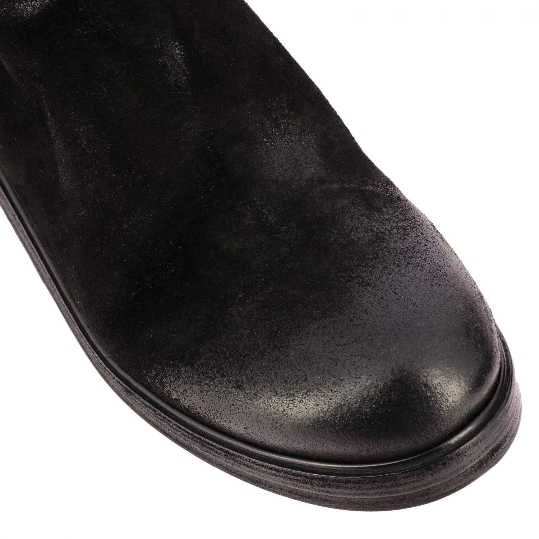 Tronchetto Zucca Zeppa Marsell in pelle scamosciata con cerniera posteriore nero 4