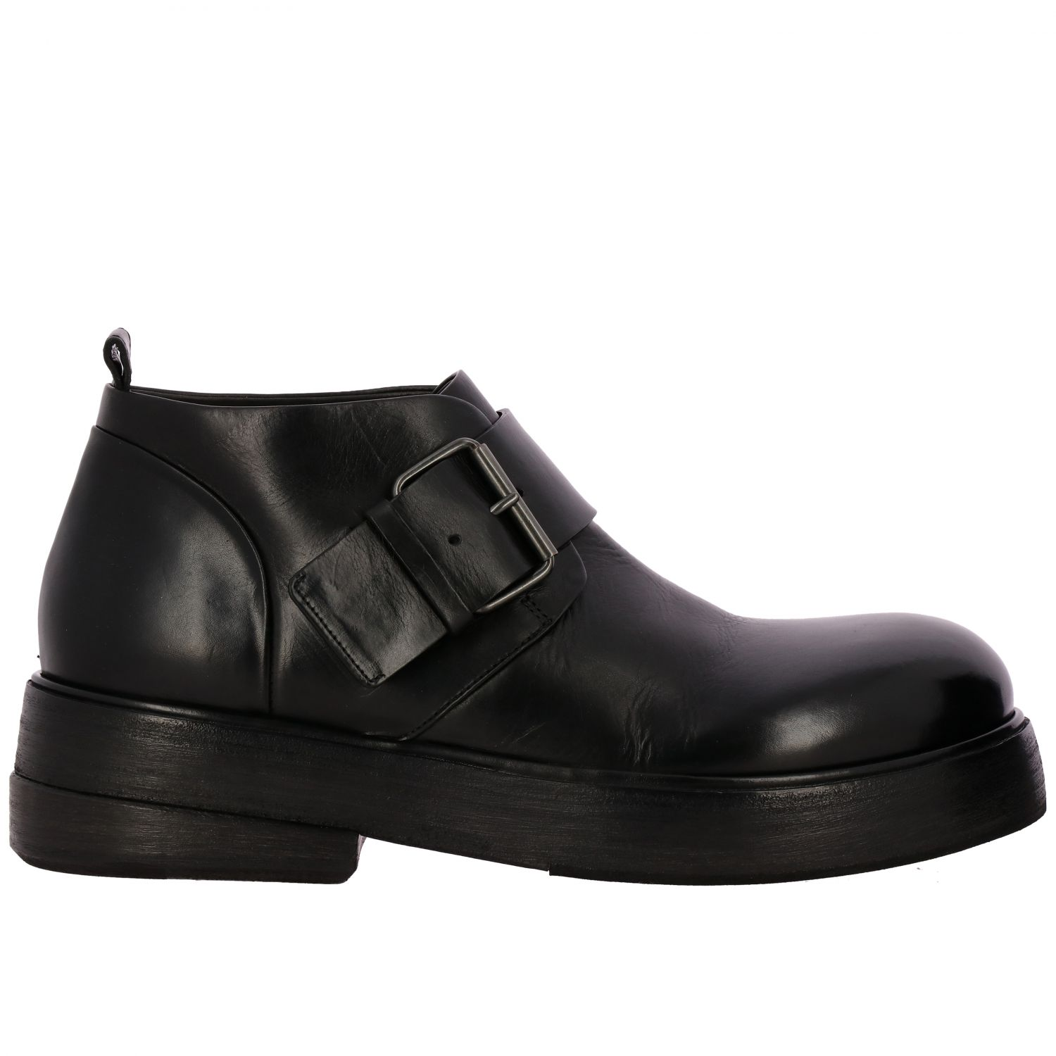 Zuccolona Marsell shoes in hand-colored natural leather black 1