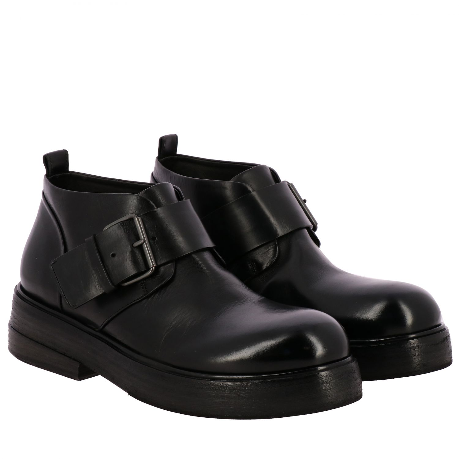Zuccolona Marsell shoes in hand-colored natural leather black 2