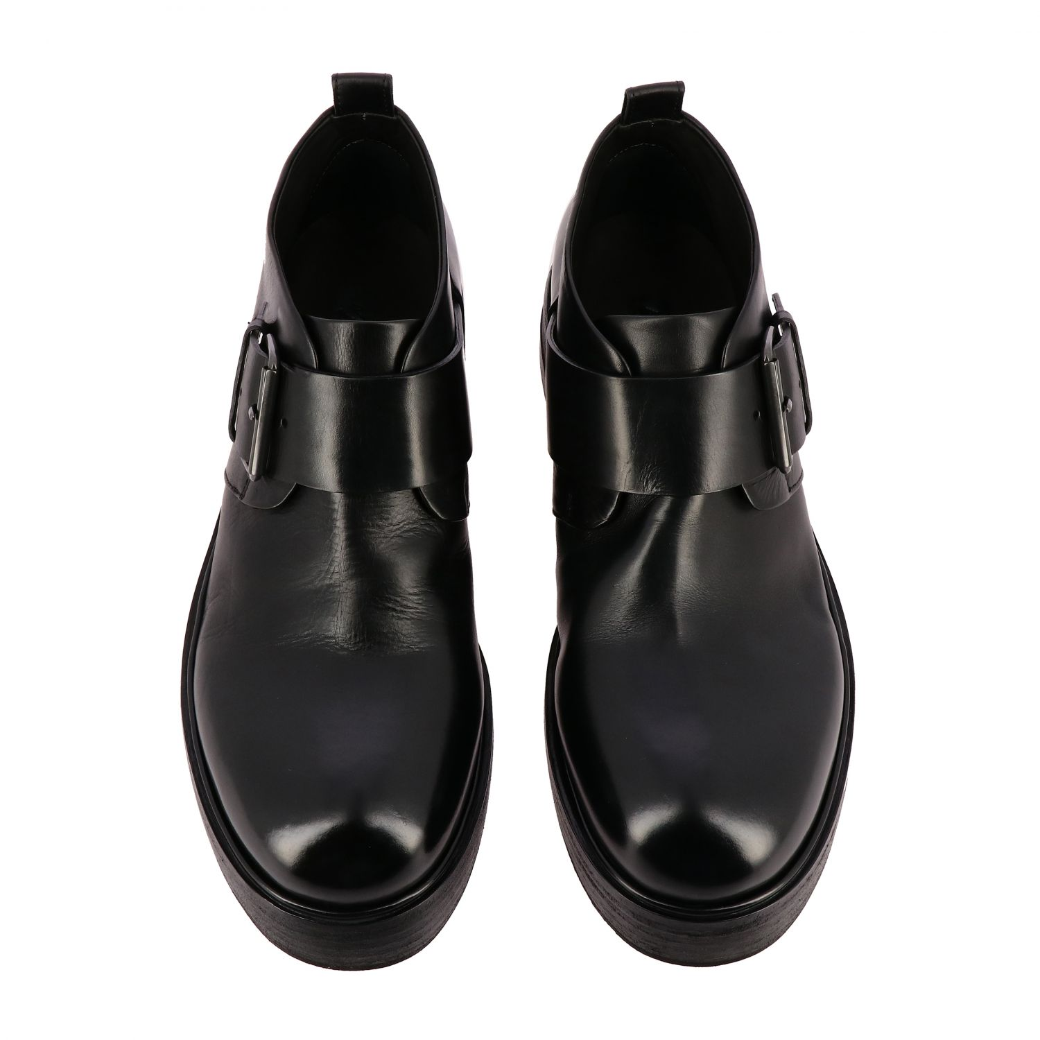 Zuccolona Marsell shoes in hand-colored natural leather black 3