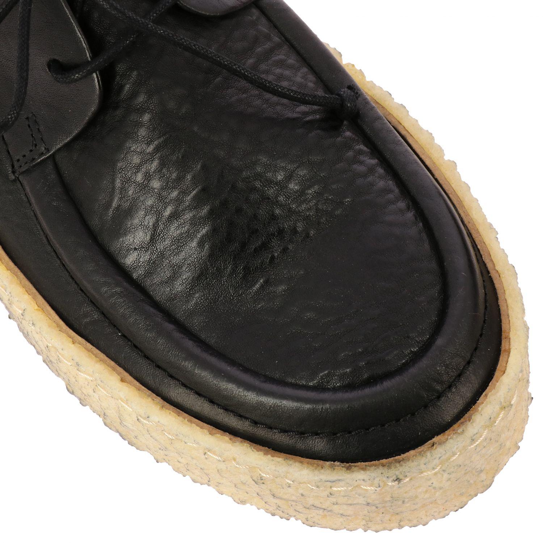 Derby Cassapara Marsell in pelle con suola in gomma a cassetta nero 4