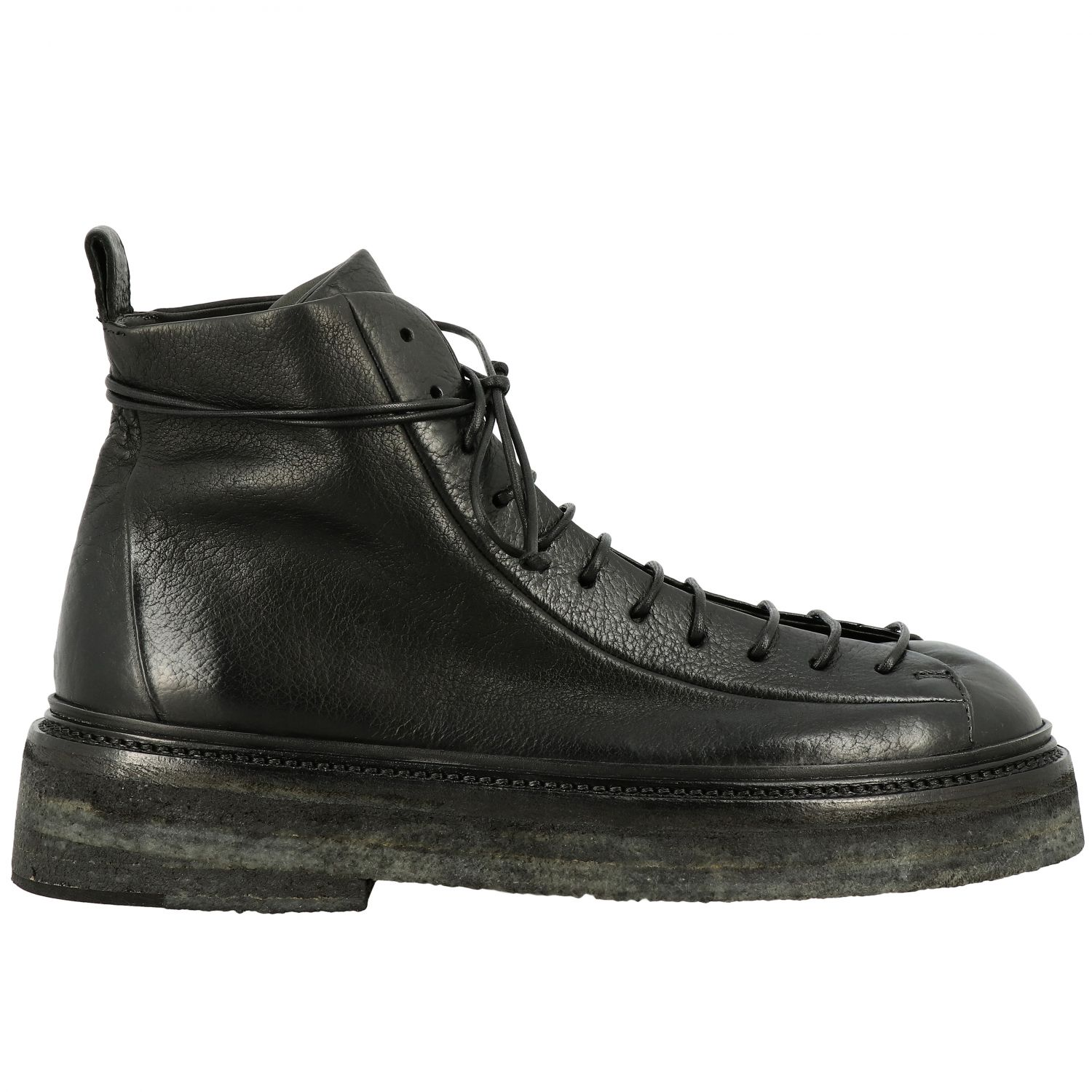 Derby Pedula Parruccona Marsell in pelle nero 1