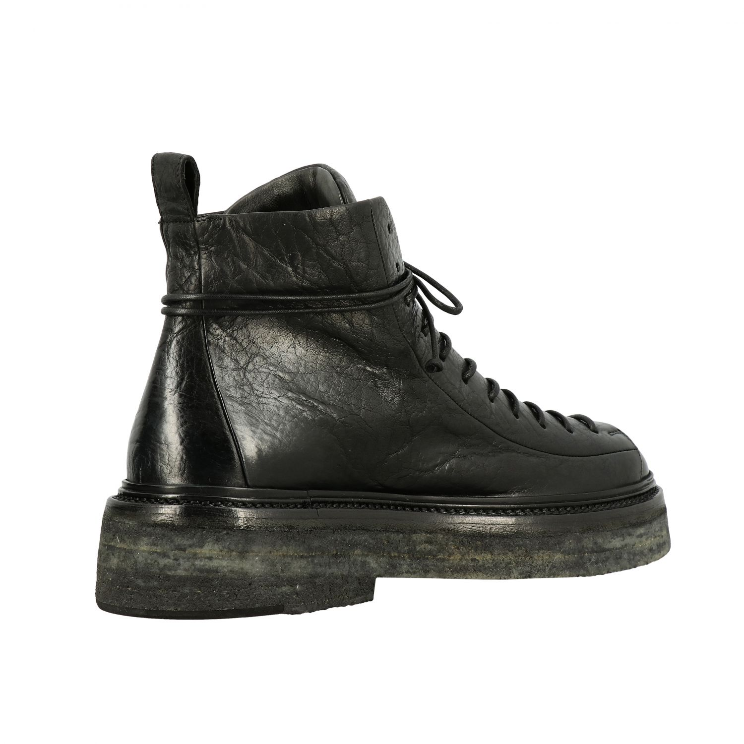 Derby Pedula Parruccona Marsell in pelle nero 5