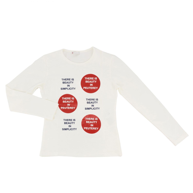 Camiseta de manga larga con estampado de Peuterey nata 1