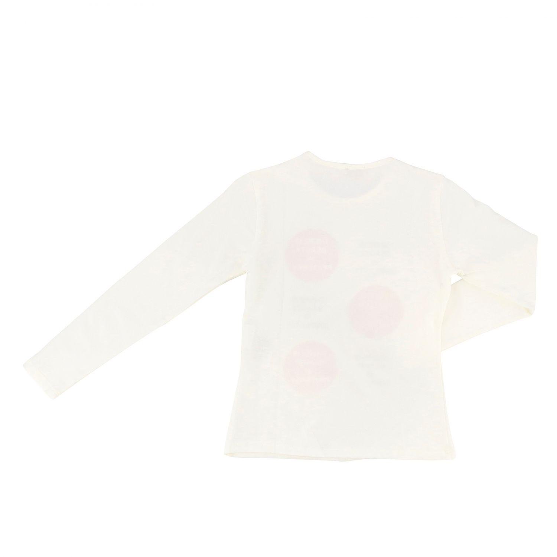 Camiseta de manga larga con estampado de Peuterey nata 2