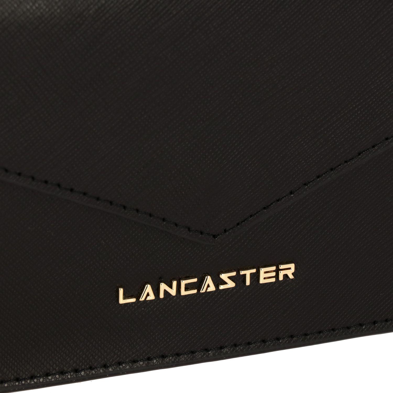 Borse a tracolla Lancaster Paris in pelle saffiano con logo metallico nero 3