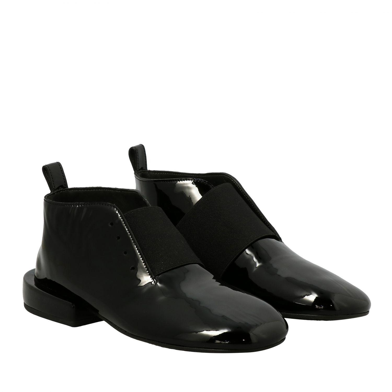 Marsell Megattera Derby aus glänzendem Leder mit asymmetrischem Band schwarz 2