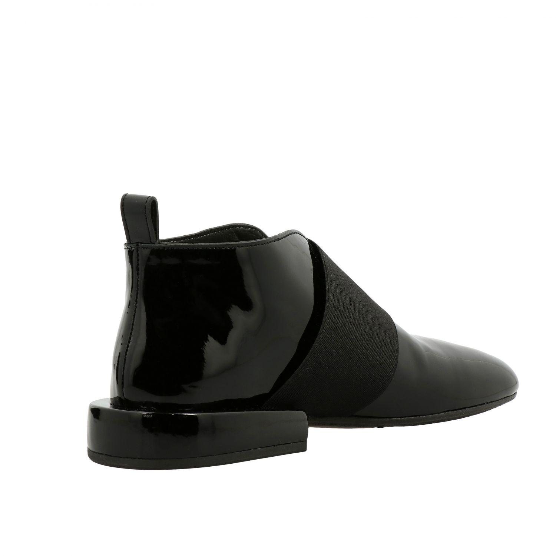 Marsell Megattera Derby aus glänzendem Leder mit asymmetrischem Band schwarz 5