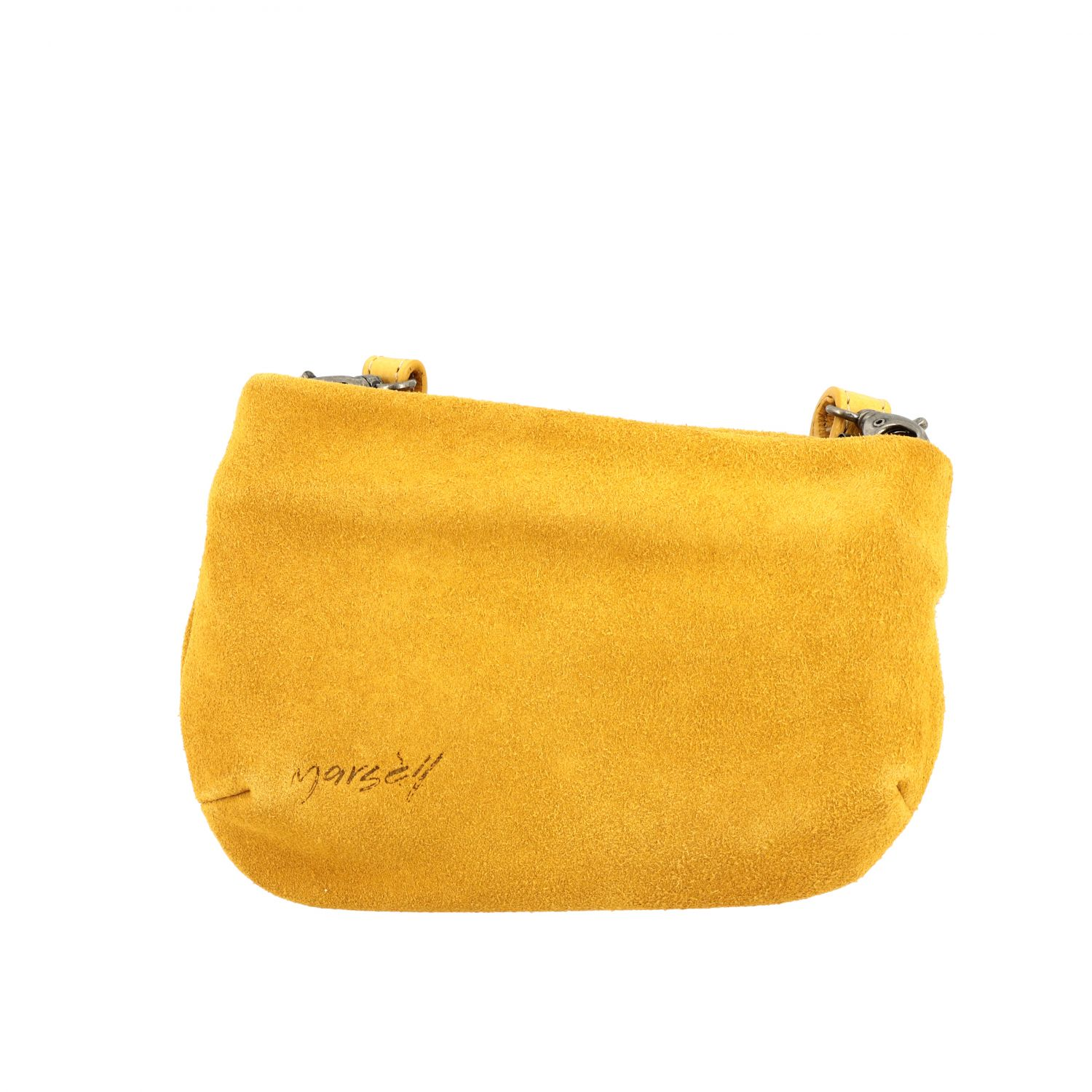 Marsell Fantasmetto shoulder bag in suede yellow 1