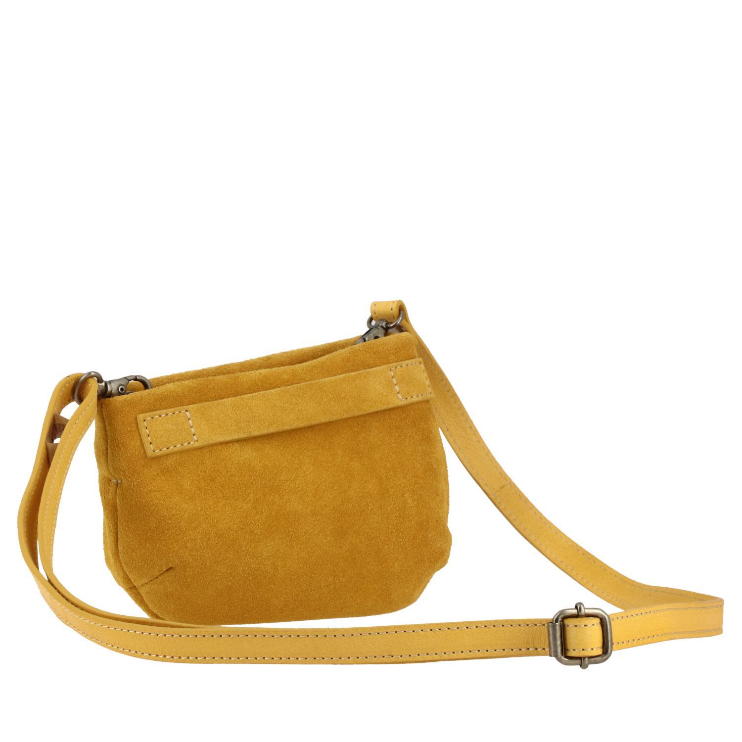 Marsell Fantasmetto shoulder bag in suede yellow 3