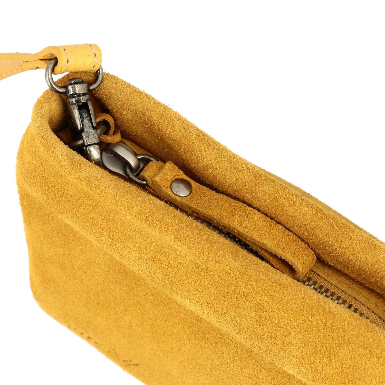 Marsell Fantasmetto shoulder bag in suede yellow 4