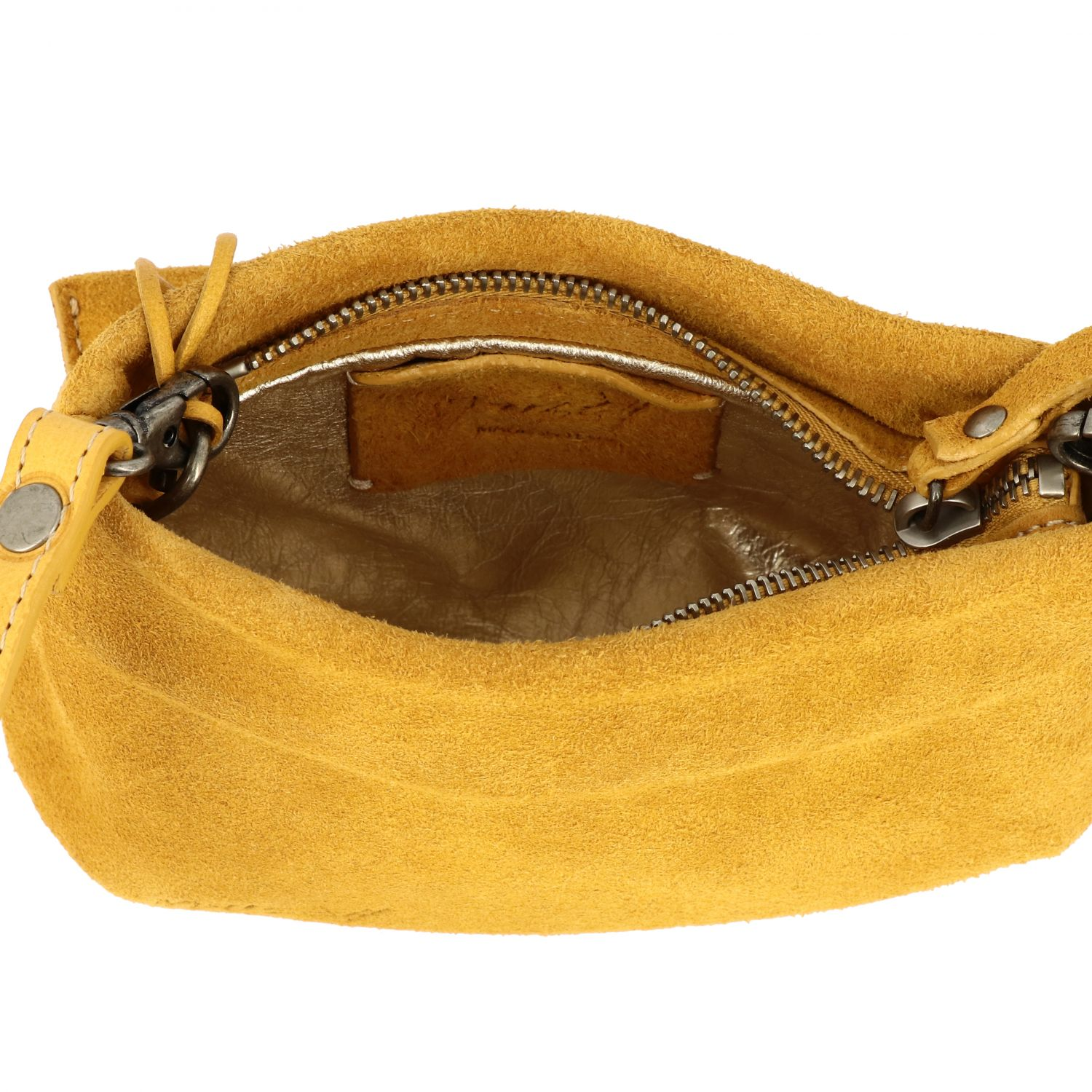 Marsell Fantasmetto shoulder bag in suede yellow 5