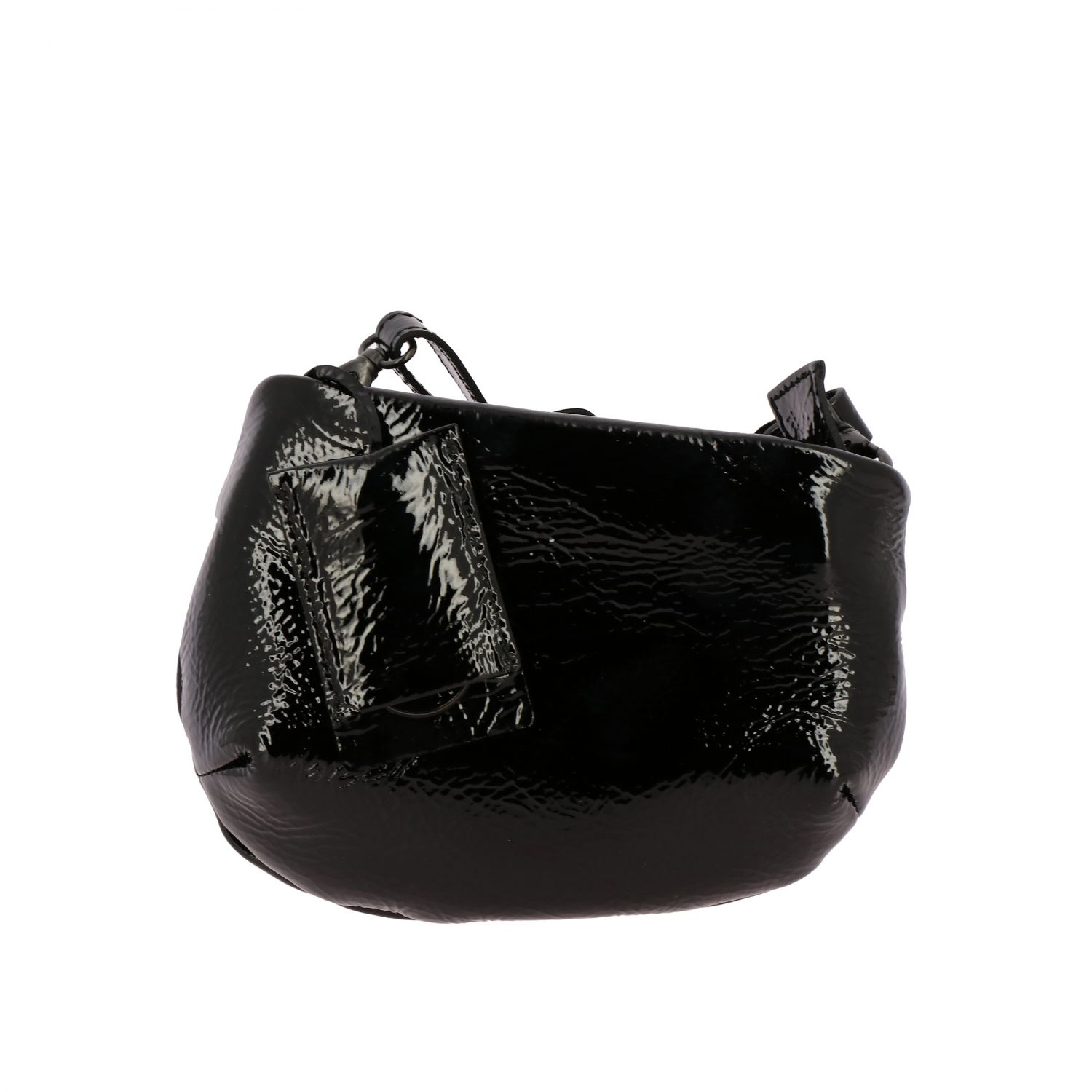 Marsell Fantasmino shoulder bag in patent leather black 1