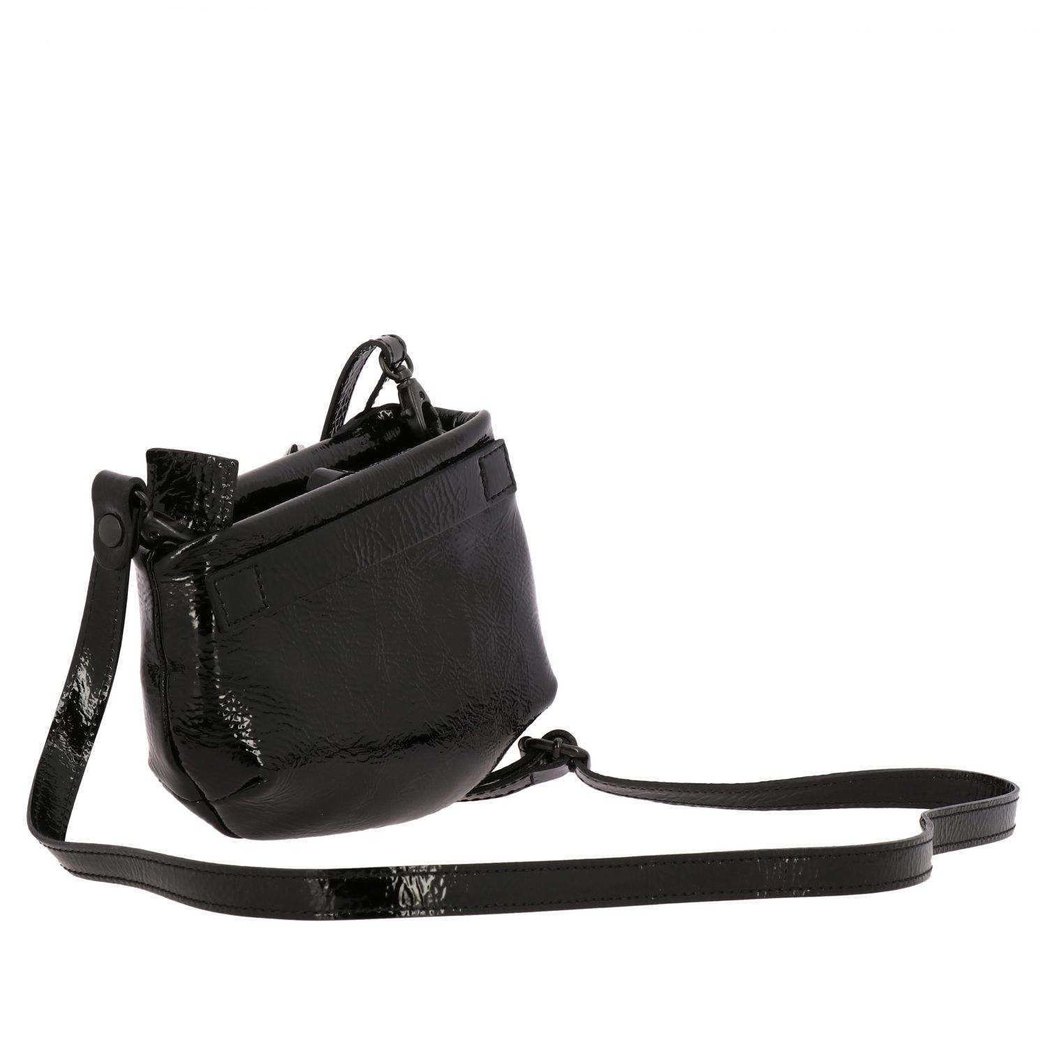 Marsell Fantasmino shoulder bag in patent leather black 3