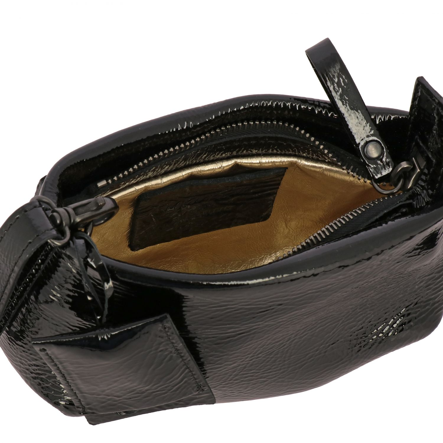 Marsell Fantasmino shoulder bag in patent leather black 5