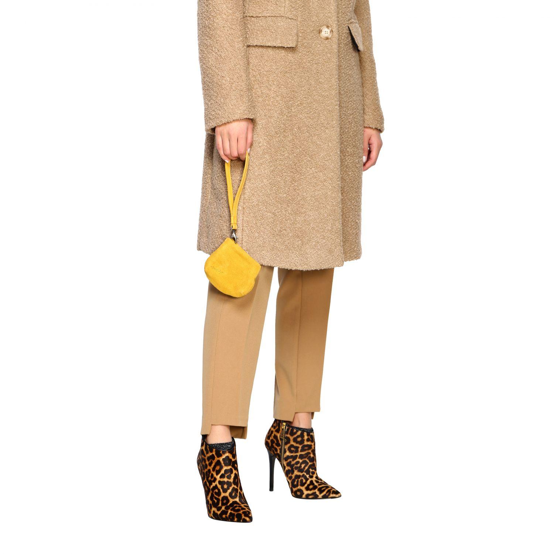 Minifanta wrist bag in real suede yellow 2