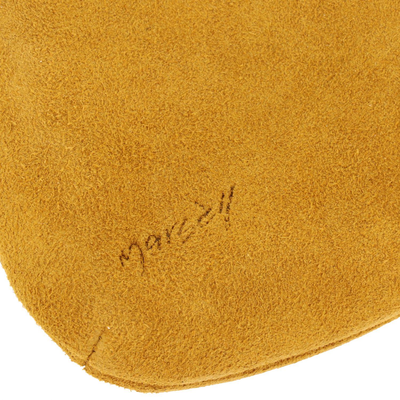 Minifanta wrist bag in real suede yellow 4