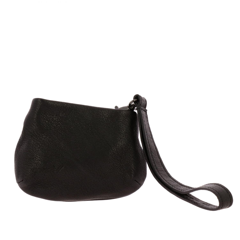 Marsell wristlet Minifanta in genuine leather black 1