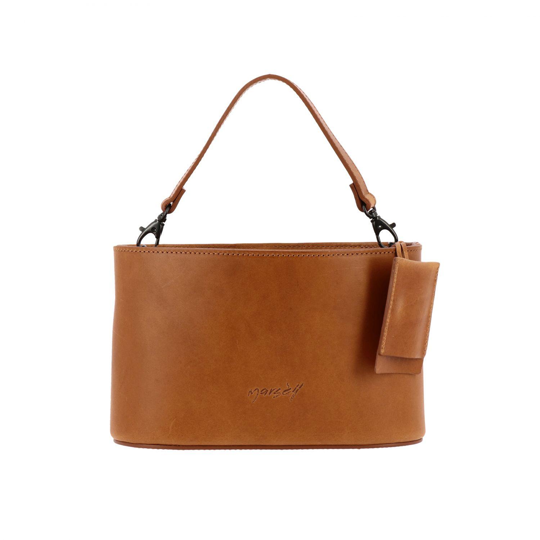 Marsell Mandorla leather bag with shoulder strap brown 1