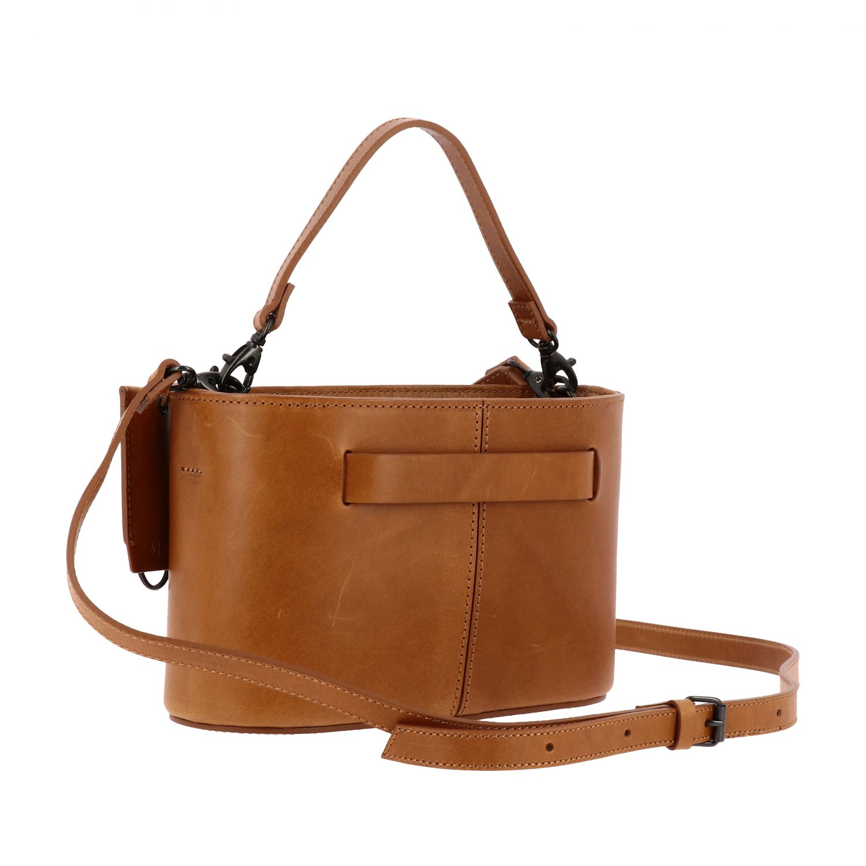 Marsell Mandorla leather bag with shoulder strap brown 3