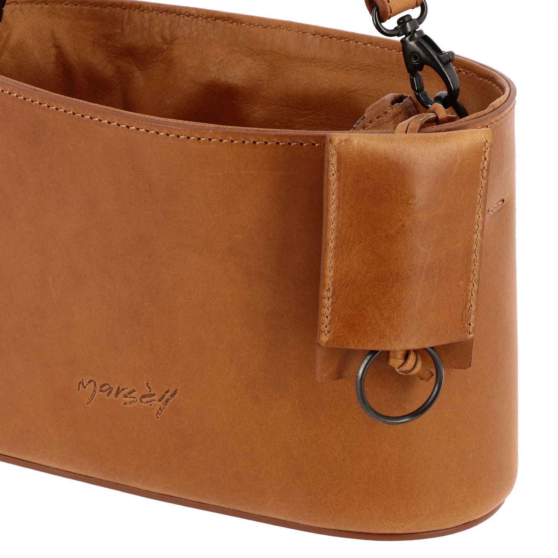 Marsell Mandorla leather bag with shoulder strap brown 4