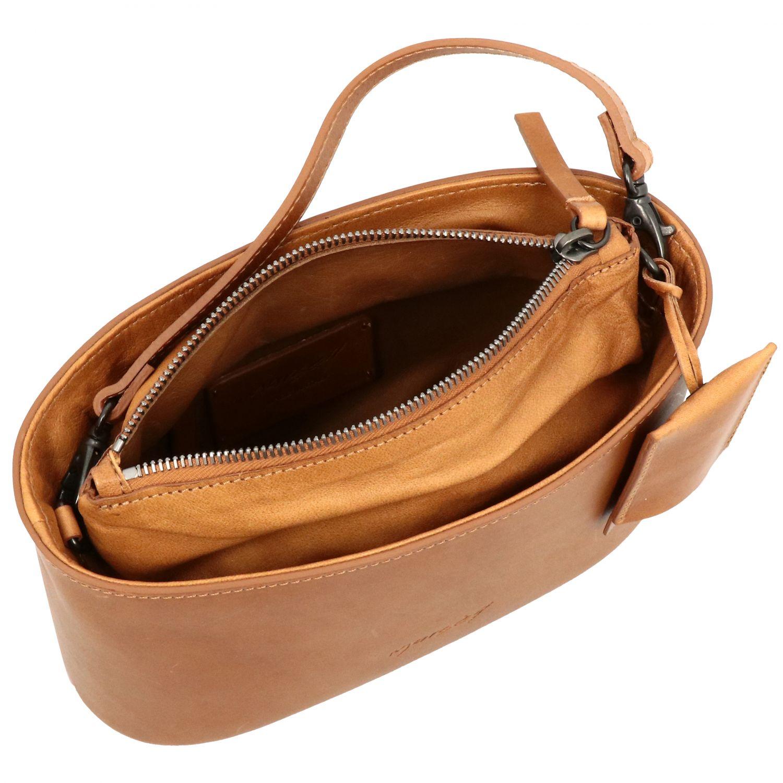 Marsell Mandorla leather bag with shoulder strap brown 5
