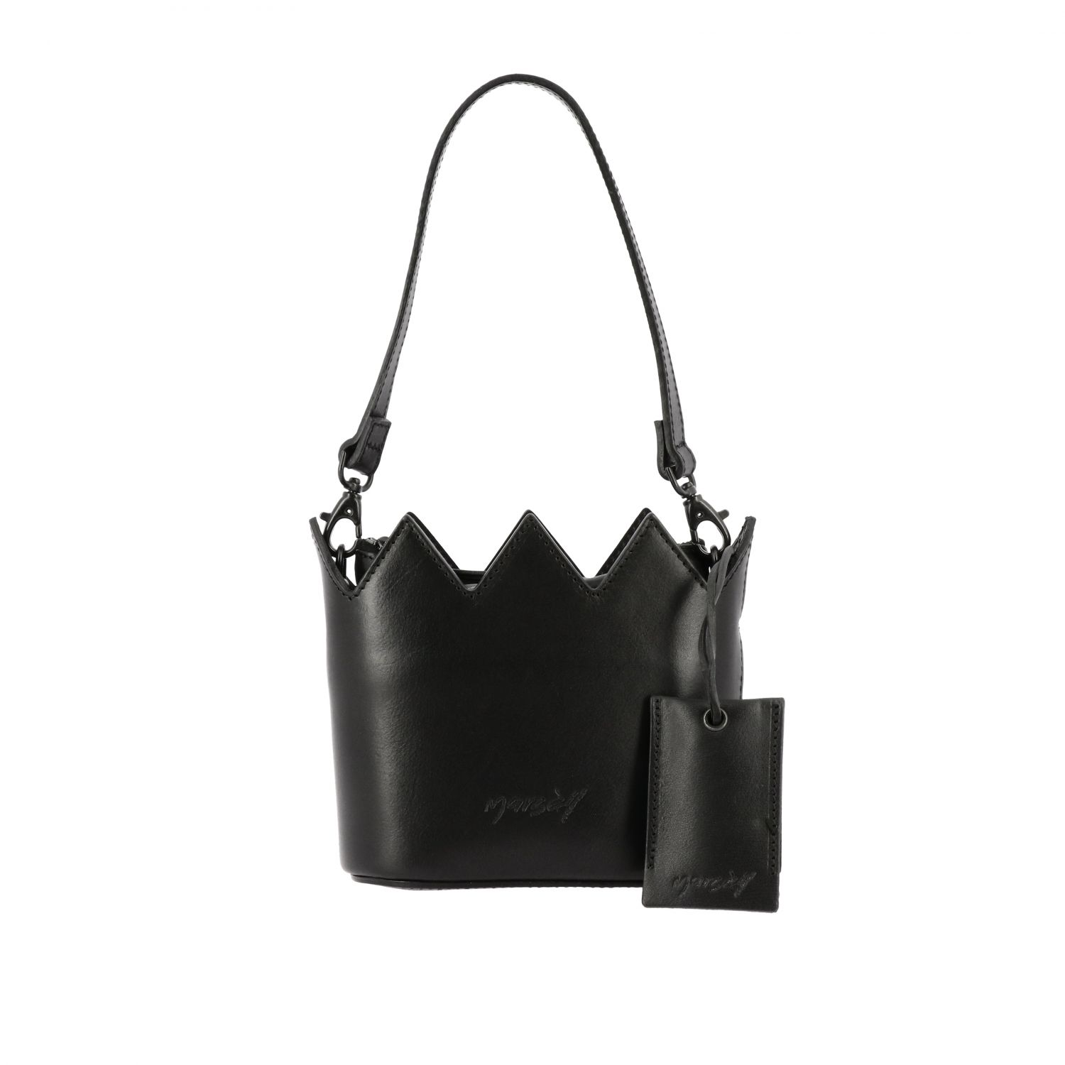 Marsell Mini Corona leather bag with shoulder strap black 1