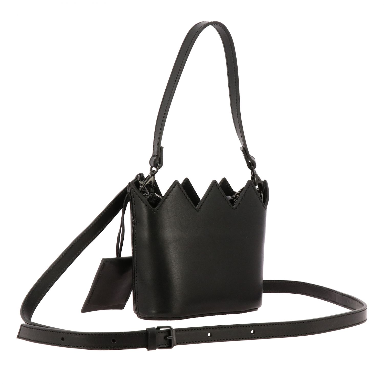 Marsell Mini Corona leather bag with shoulder strap black 3