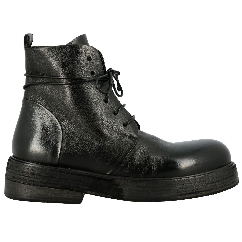 Marsell Zuccolona 真皮系带军靴 黑色 1