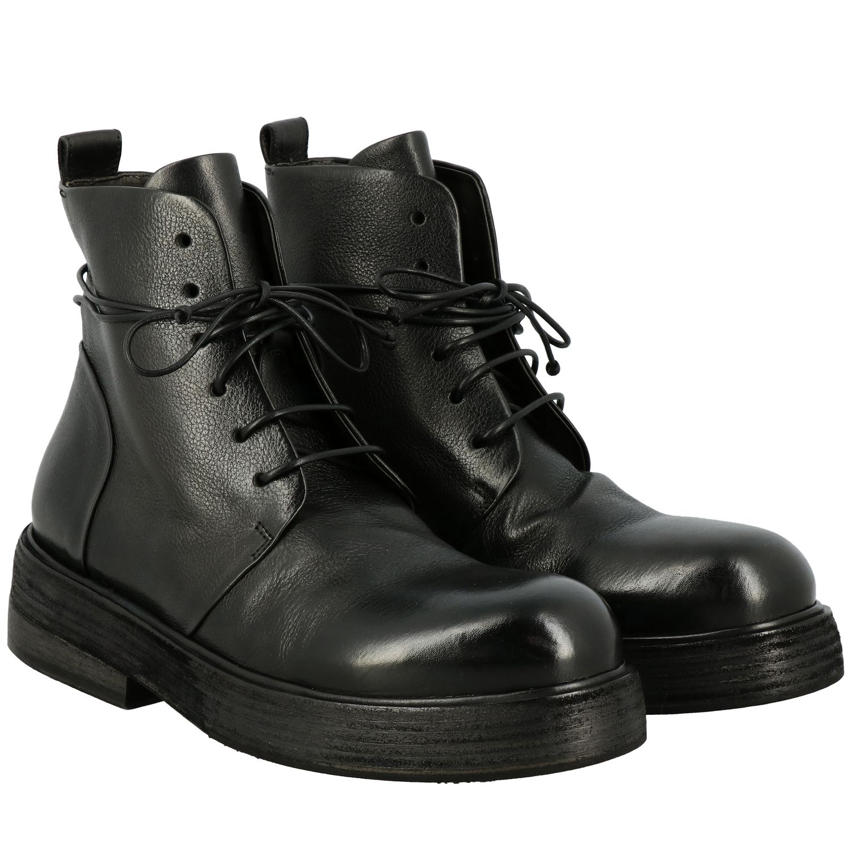 Marsell Zuccolona 真皮系带军靴 黑色 2