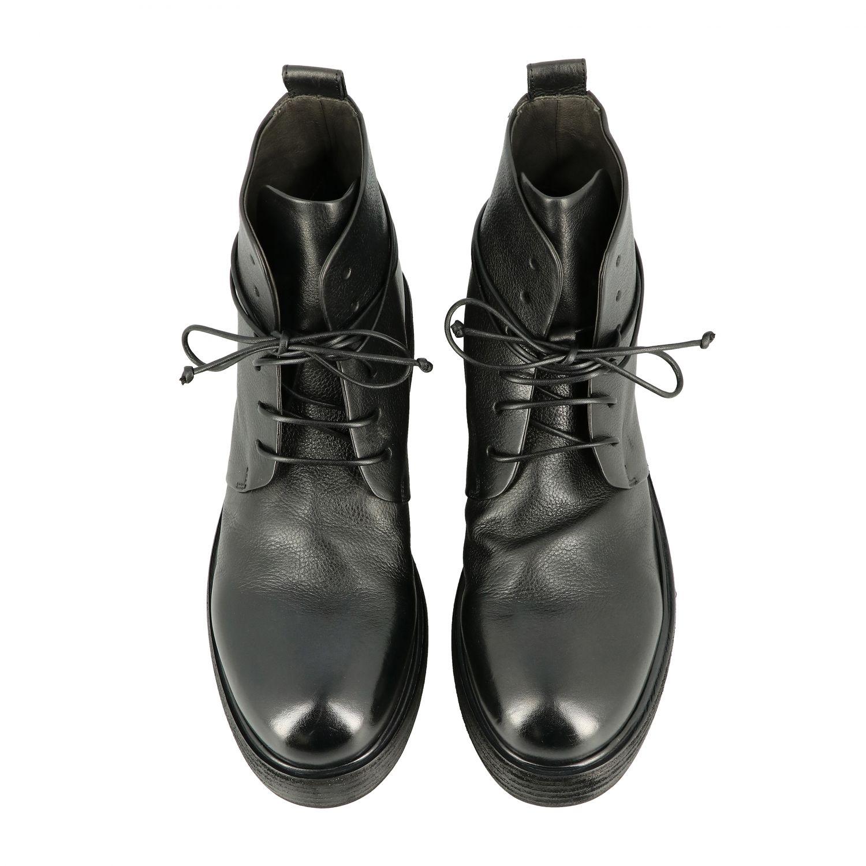 Marsell Zuccolona 真皮系带军靴 黑色 3