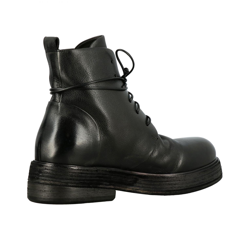 Marsell Zuccolona 真皮系带军靴 黑色 5