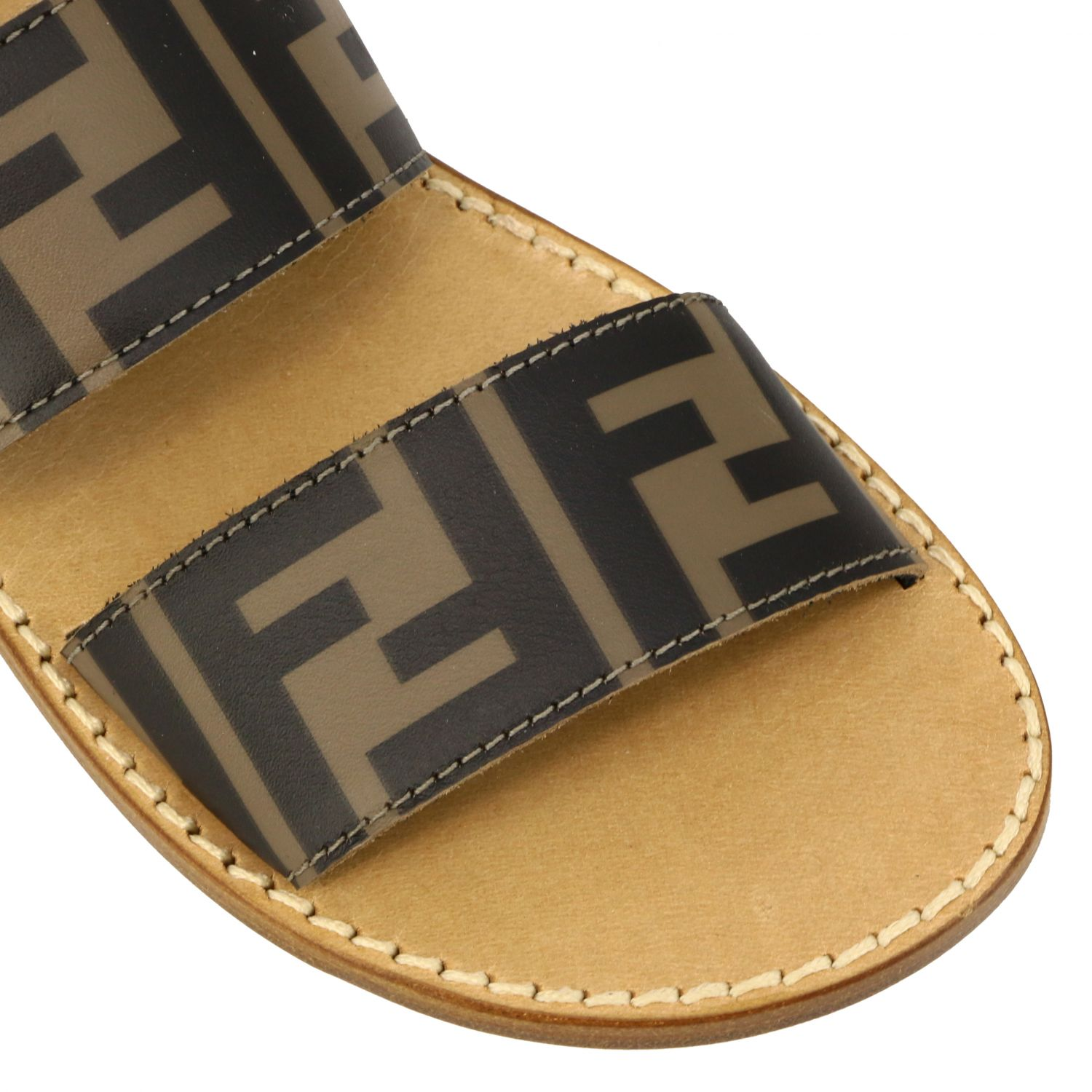 Fendi double band sandal with FF all over monogram black 4