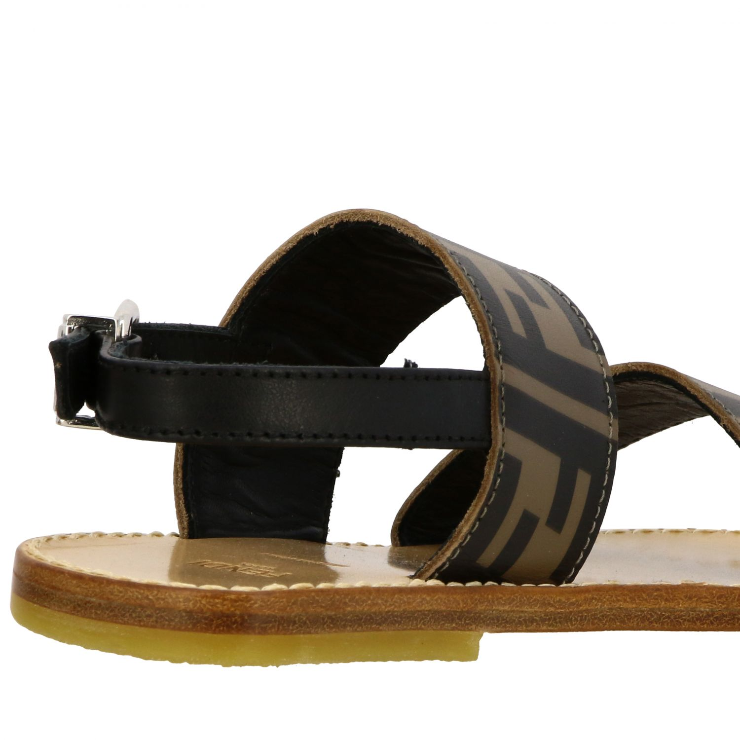 Fendi double band sandal with FF all over monogram black 5