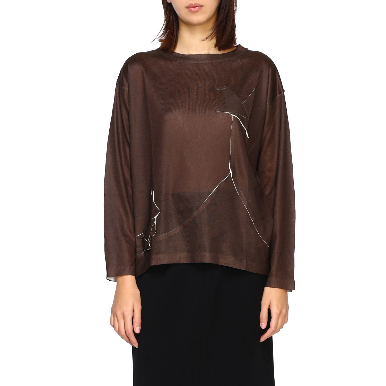 Sweater women Yoshi Kondo green 1