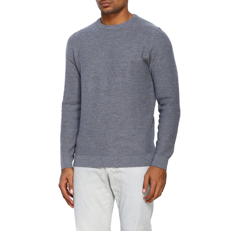 Sweater Alpha Studio: Sweater men Alpha Studio grey 4
