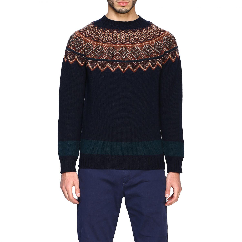 Sweater Alpha Studio: Sweater men Alpha Studio blue 1