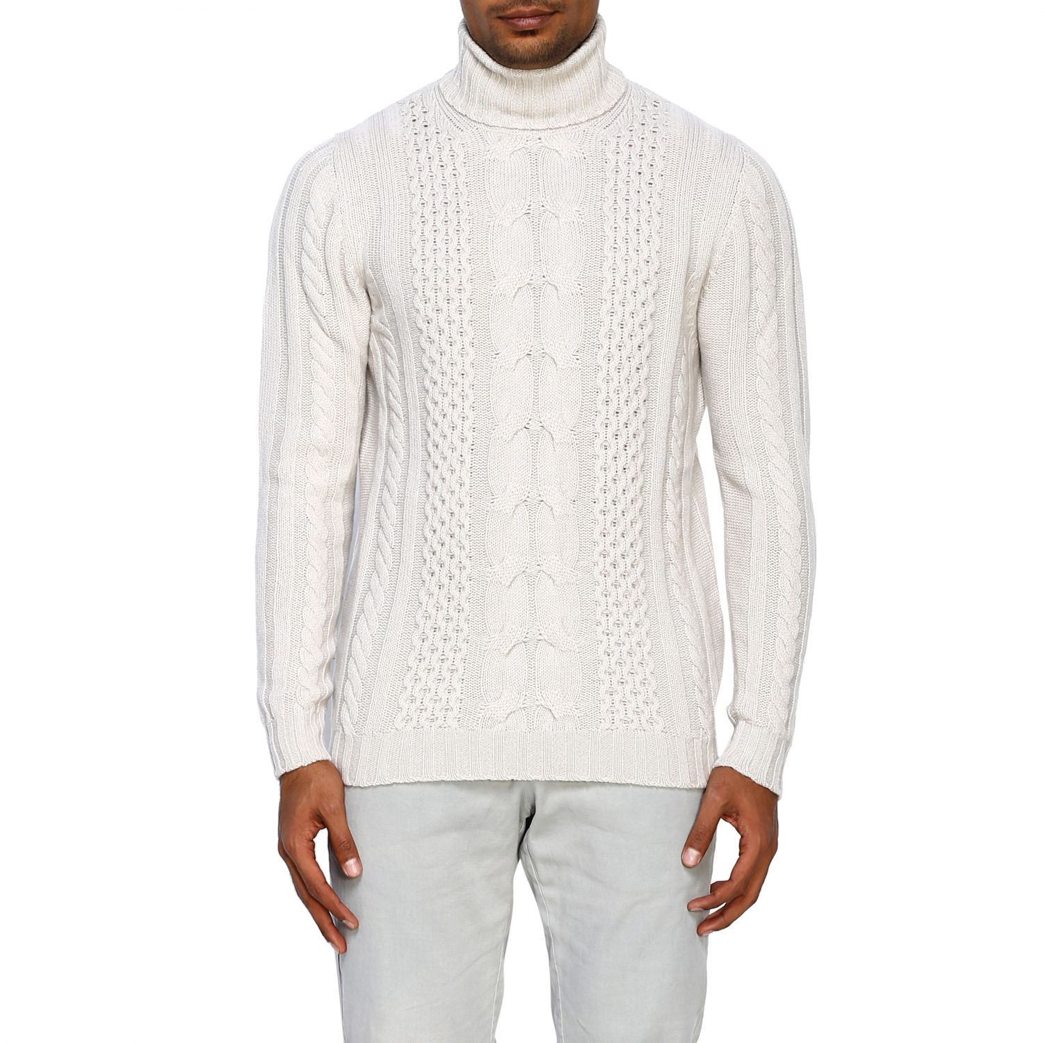 Jumper Alpha Studio: Jumper men Alpha Studio white 1