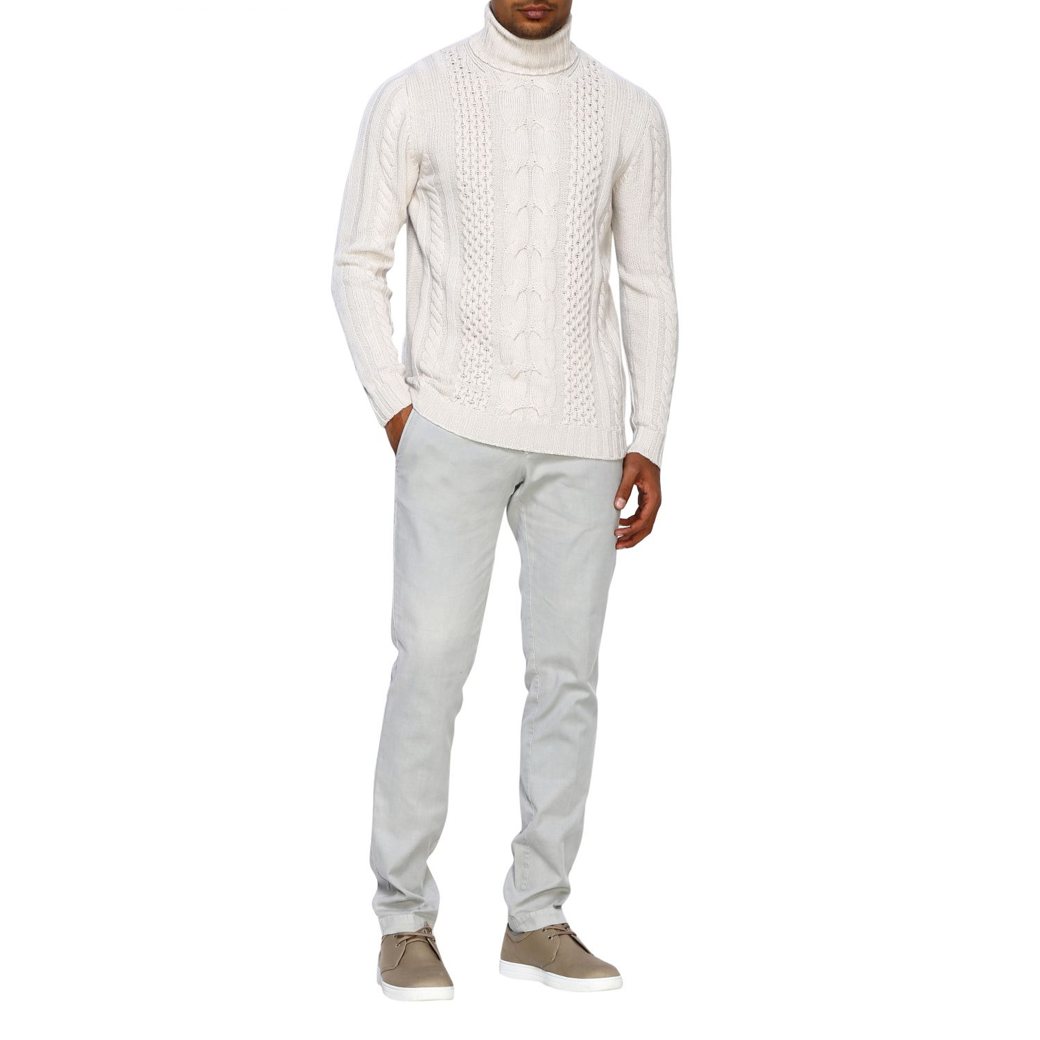 Jumper Alpha Studio: Jumper men Alpha Studio white 2