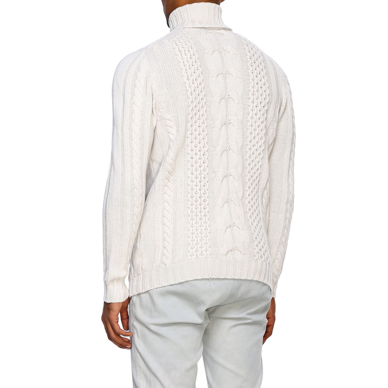 Jumper Alpha Studio: Jumper men Alpha Studio white 3