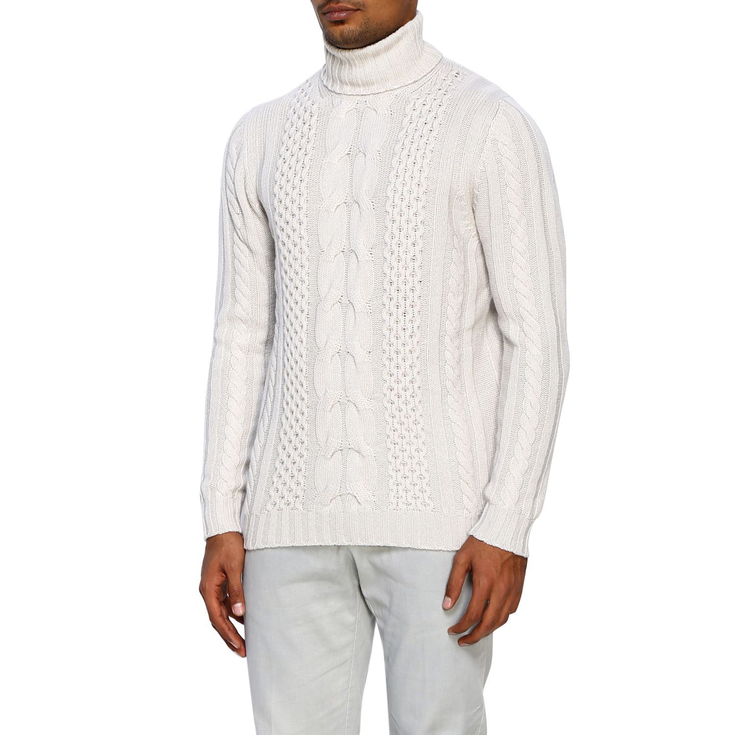 Jumper Alpha Studio: Jumper men Alpha Studio white 4