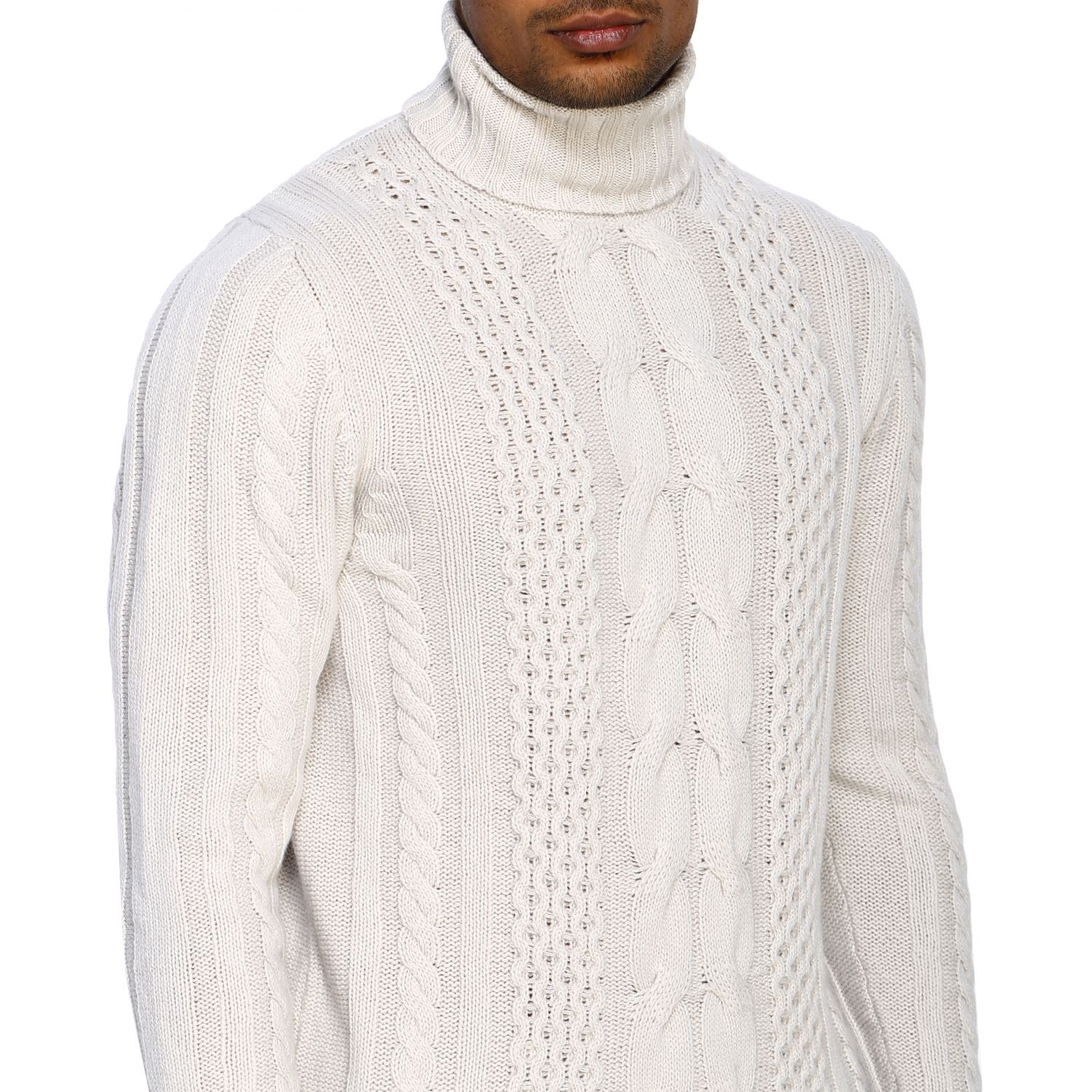 Jumper Alpha Studio: Jumper men Alpha Studio white 5