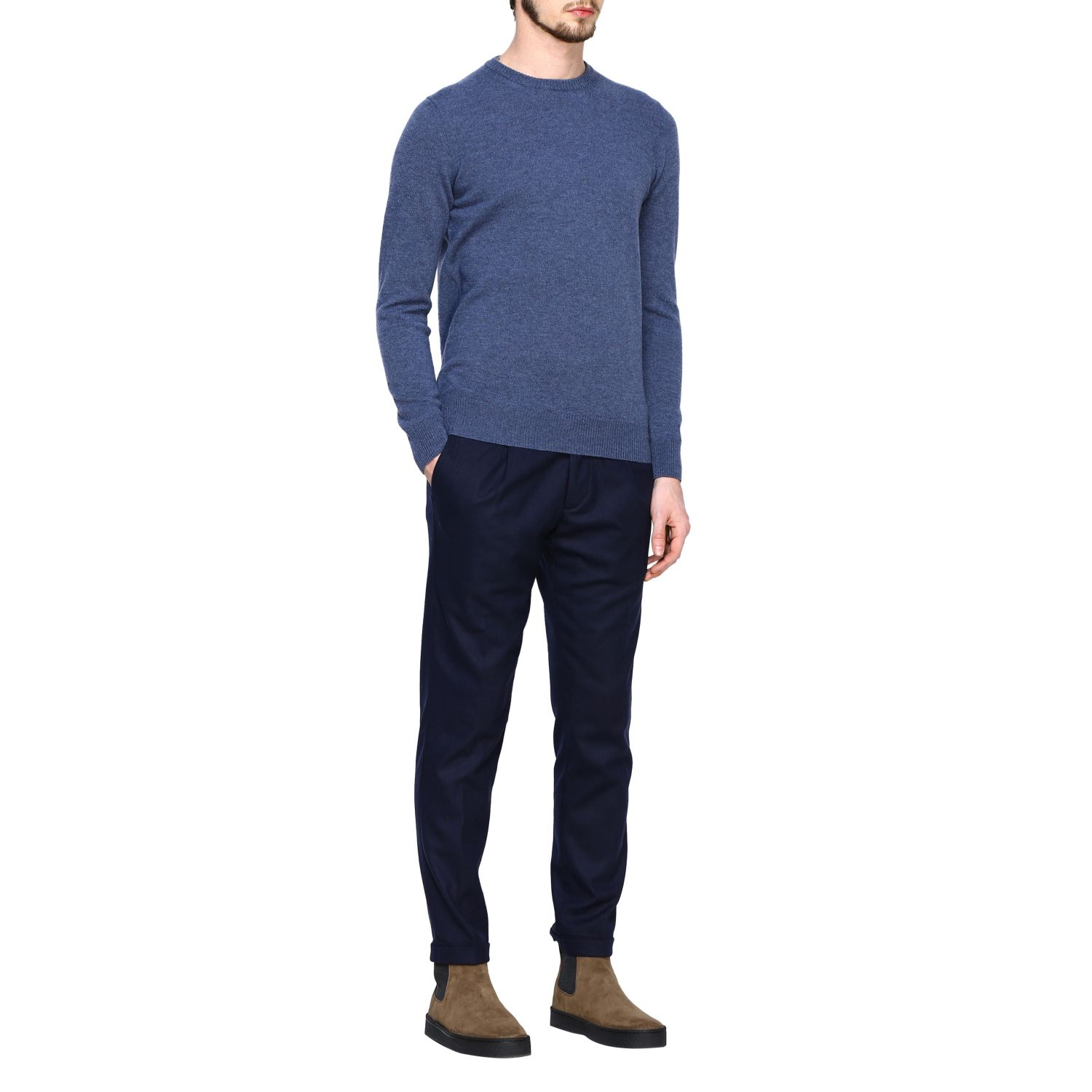 Jumper Alpha Studio: Jumper men Alpha Studio denim 2