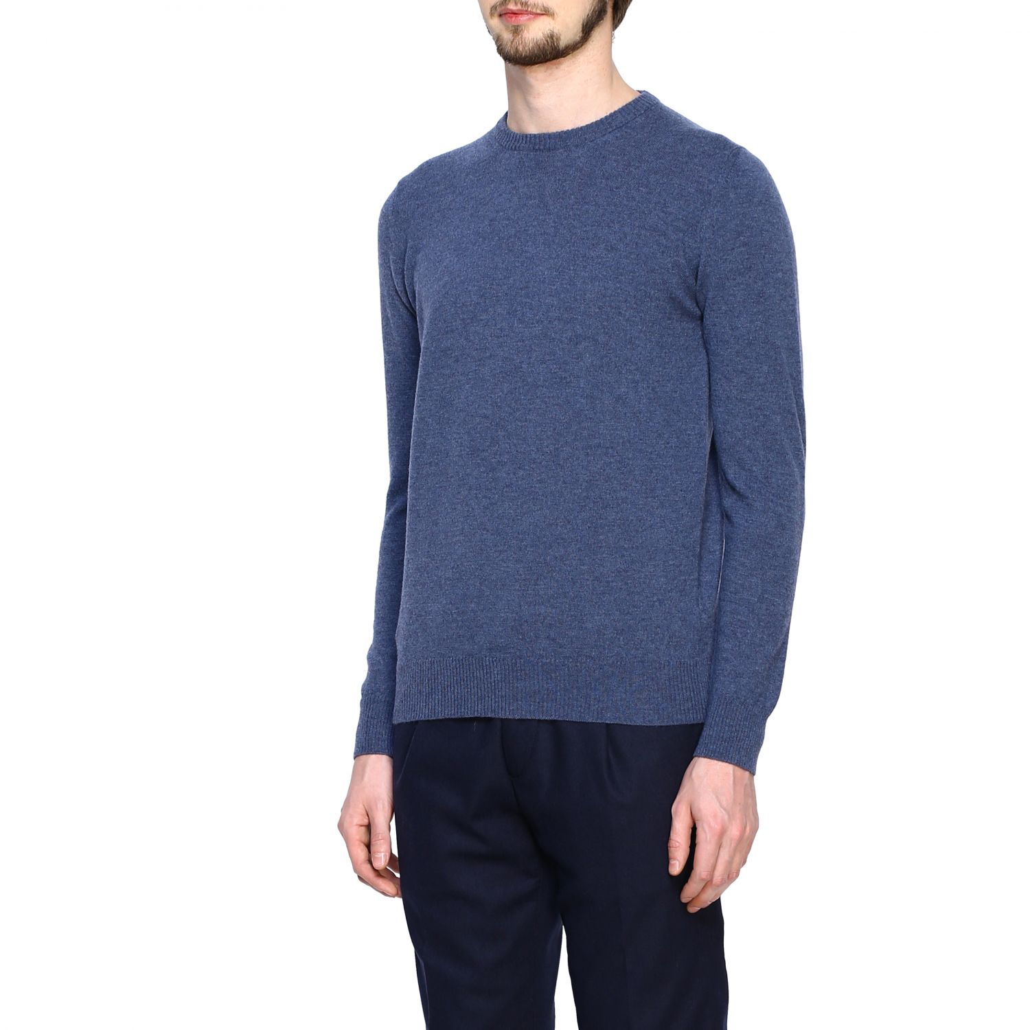 Jumper Alpha Studio: Jumper men Alpha Studio denim 4