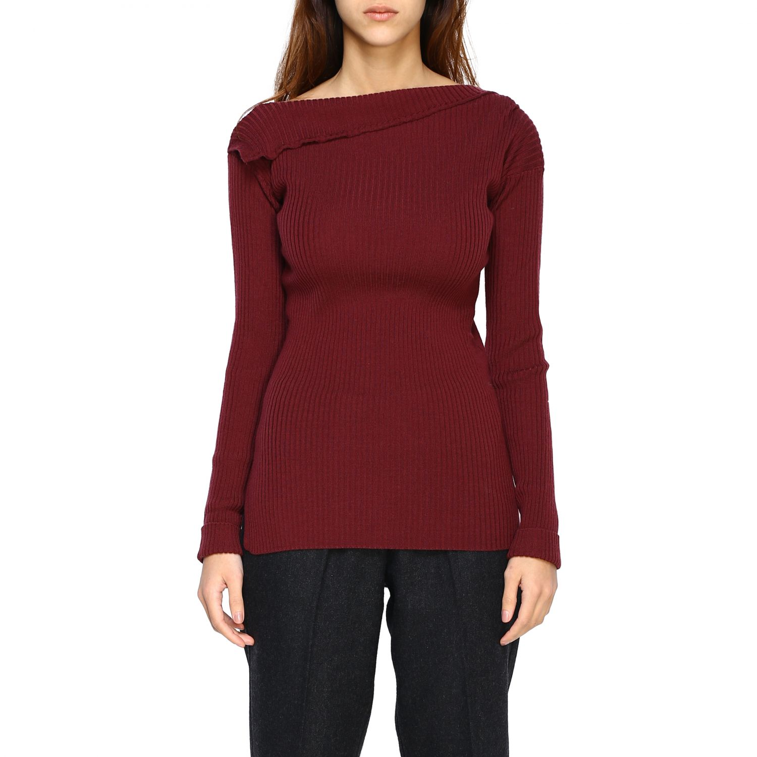 Jumper Alpha Studio: Jumper women Alpha Studio mahogany 1